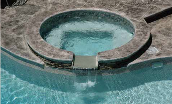 Spillover Poolside Spa for Royal Pools by Saratoga Spas