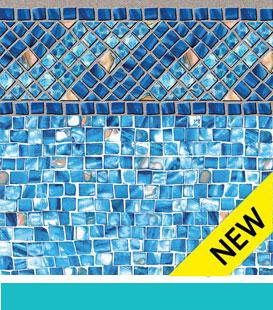 Opções de revestimento para piscina enterrada - Amelia |  Mosaico do Azure, 27/27 Mil