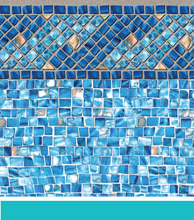 Inground Swimming Pool Liner Choices - Amelia   Azure Mosaic, 27/27 Mil