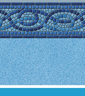 Pool Liner Gallery - title: Boca | Blue Crystal, 27/20 • 27/27 Mil