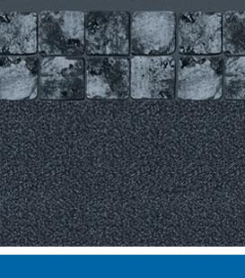 Opções de revestimento para piscina enterrada - ardósia cinza |  Granito Preto, 27/27 Mil