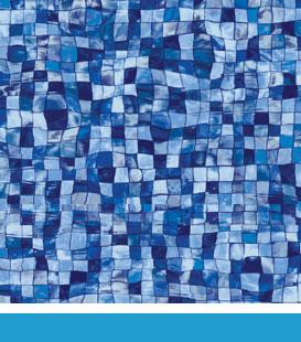 Mosaic Wave Borderless, 27/27 Mil Liner Pattern
