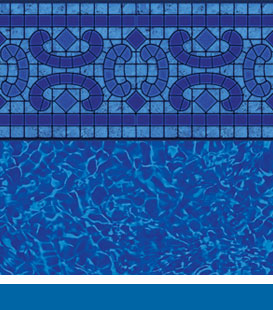 Pool Liners for Steel Iniground Pools - Napa Estates | Brilliant Bahama, 20/20 • 27/20 • 27/27 Mil
