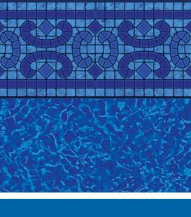 Revestimentos de piscinas para piscinas de aço Iniground - Napa Estates |  Bahama Brilhante, 20/20 • 27/20 • 27/27 Mil