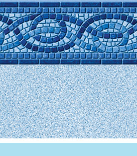 Inground Pool Liner Choices - Serpentine | White Crystal, 27/20 • 27/27 Mil