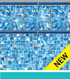 Sunburst | Azure Mosaic, 27/27 Mil Liner Pattern