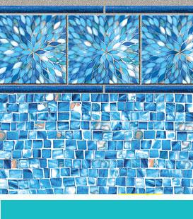 Sunburst   Azure Mosaic, 27/27 Mil